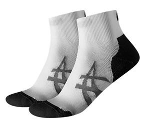 Asics 2ppk Cushioning Socks - Real White