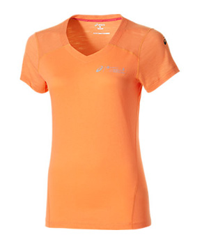 Asics womens Fuzex v-Neck Short Sleeve top