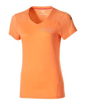 Asics womens Fuzex v-Neck Short Sleeve top