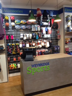 Sales desk at Weybridge Sports