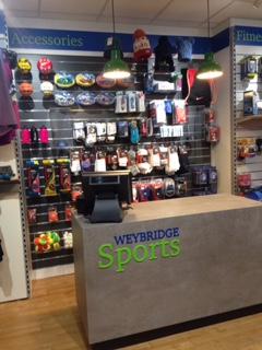 Sales desk at Weybridge Sports