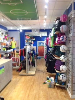 Shop floor at Weybridge Sports