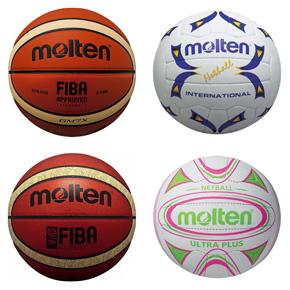 Molten basketballs - Molten netballs